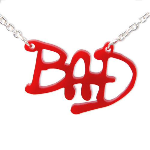 "Michael Jackson's ""BAD"" Acrylic Name Necklace"