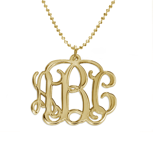 Mix and Match Monogram Necklace and Bracelet Set - 1