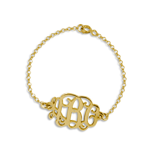 Mix and Match Monogram Necklace and Bracelet Set - 2