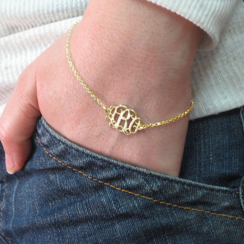 Mix and Match Monogram Necklace and Bracelet Set - 4