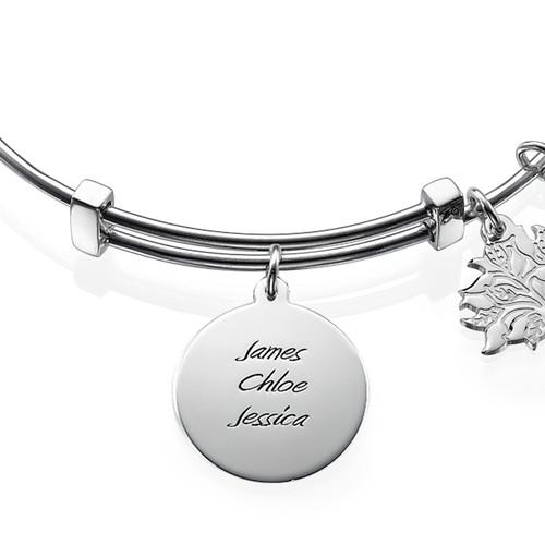 Mom Charm Bangle Bracelet - 1