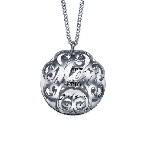 Mom Necklace with Back Engraving