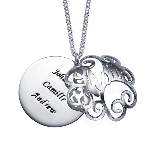 Mom Necklace with Back Engraving - 2