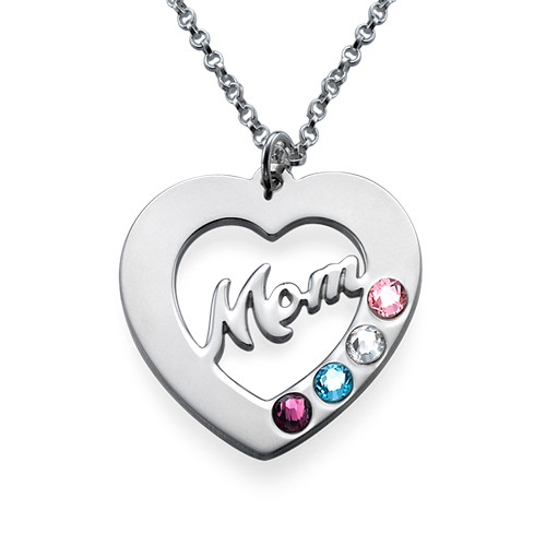 Mom Necklace with Birthstones