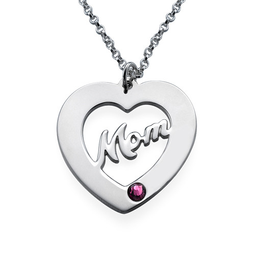 Mom Necklace with Birthstones - 2