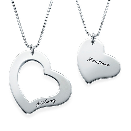 Mom is My Heart Mother Daughter Necklaces - 1