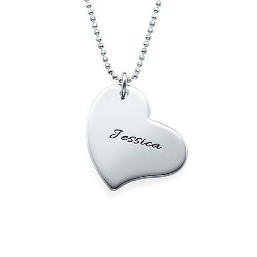 Mom is My Heart Mother Daughter Necklaces - 3