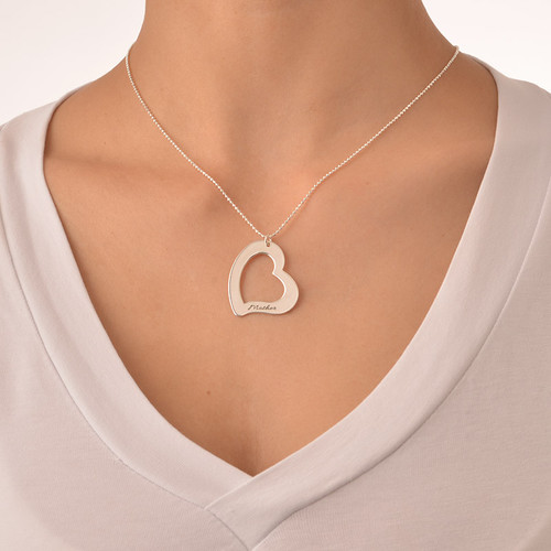 Mom is My Heart Mother Daughter Necklaces - 4