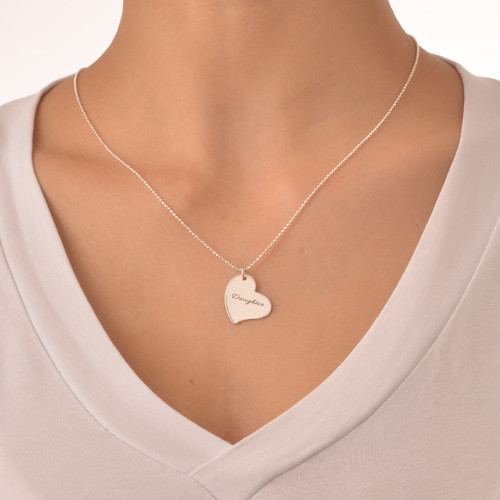 Mom is My Heart Mother Daughter Necklaces - 5