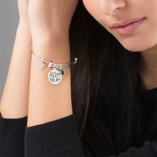 Monogram Bangle with Charms - 2