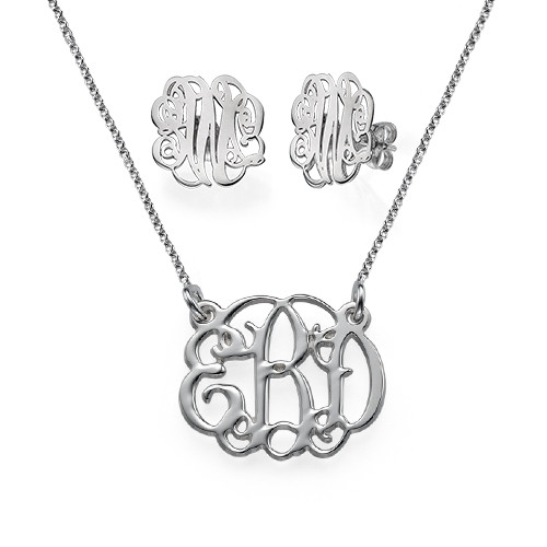 Monogram It: Monogram Necklace + Earrings