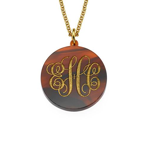 Monogrammed Custom Acrylic Necklace - 1