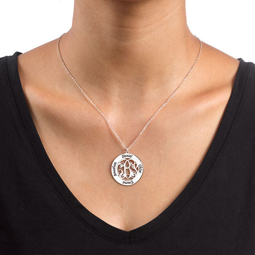Monogrammed Family Necklace - 1