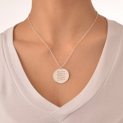 Mother Daughter Gift - Set of Three Engraved Necklaces - 4