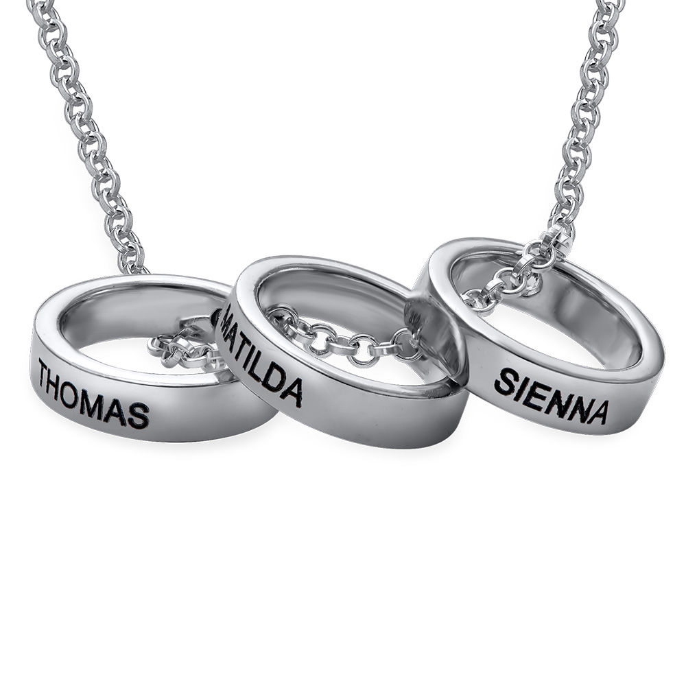 Mother Ring Necklace with Engraving - 1