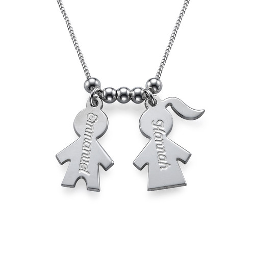 Mommy Necklace with Kids Charms