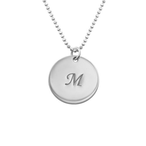 Mother Necklace with Personalized Initial Discs - 1