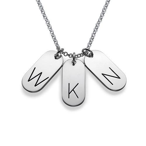 Multiple Initial Bar Pendant Necklace