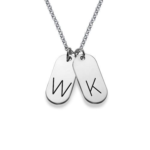 Multiple Initial Bar Pendant Necklace - 1