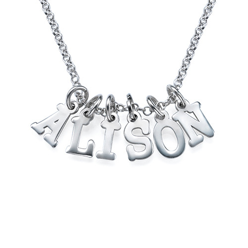 Multiple Letter Necklace in Silver