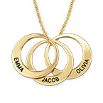 Multiple Ring Necklace in Gold Plating