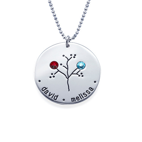 Sterling Silver Family Tree Necklace for Grandma - 2