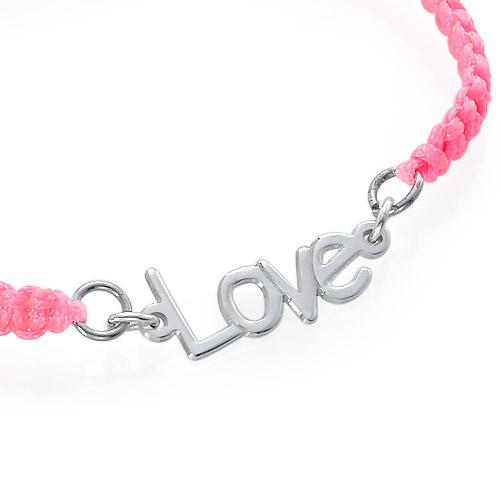 Name Bracelet on Cord - 1