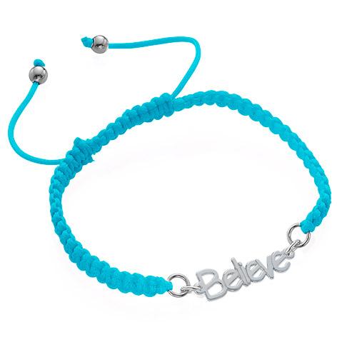 Name Bracelet on Cord - 3