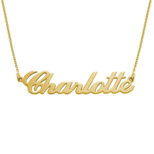 18k Gold-Plated Silver Carrie Name Necklace - 2