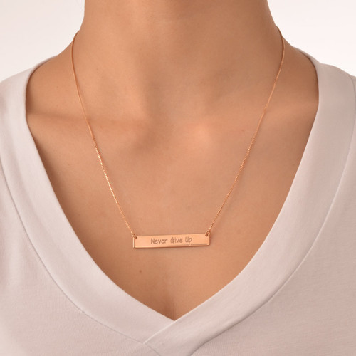 Never Give Up Inspirational Necklace - 1