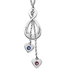 Never-ending Love Infinity Necklace with birthstones