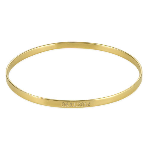 Numeral Date Bangle with 18K  Gold plating