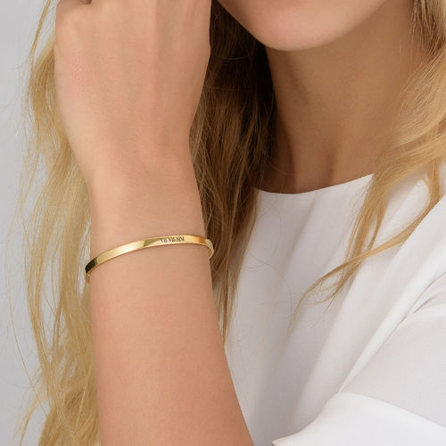 Numeral Date Bangle with 18K  Gold plating - 2