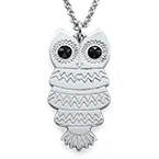 Owl Necklace with Back Engraving