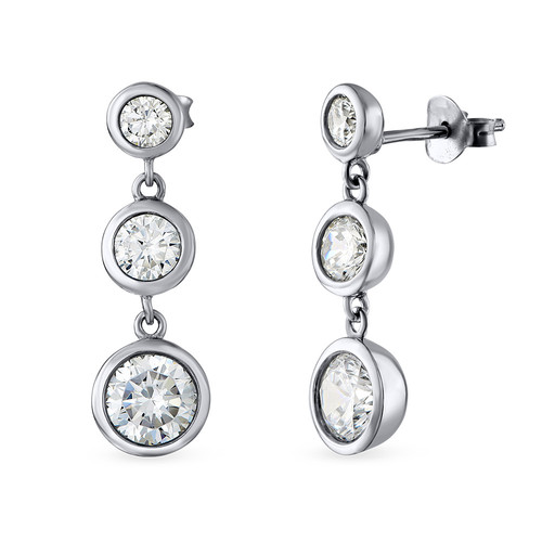 Past Present Future Cubic Zirconia Earrings