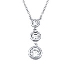 Past Present Future Cubic Zirconia Necklace