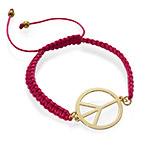 Peace Sign Cord Bracelet