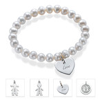 Pearl Bracelet with Charm