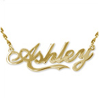 "Personalized 14k Gold ""Coca Cola"" Style Name Necklace"