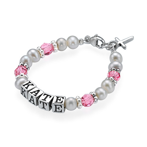 Personalized Baby Bracelet in Silver