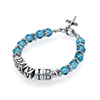 Personalized Baby Name Bracelet in Blue