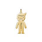 Personalized Boy Charm - Gold Plated