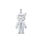 Personalized Boy Charm - Silver