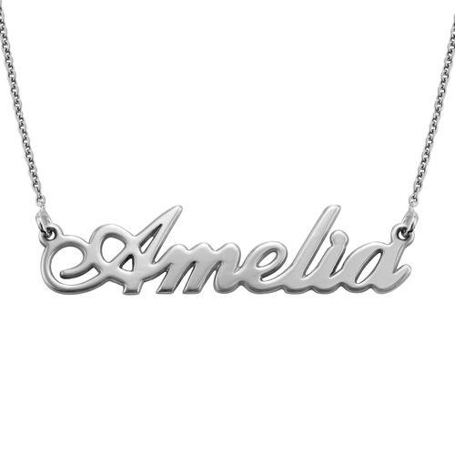 Personalized Classic Name Necklace in Silver - 1