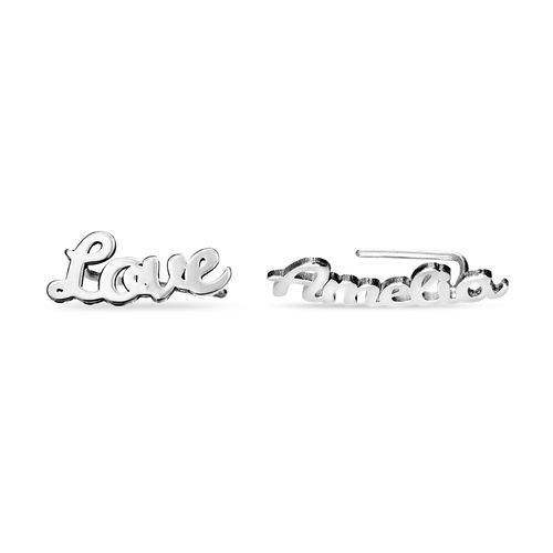 Personalized Ear Climbers in Sterling Silver