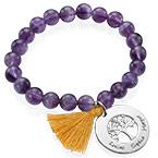 Personalized Family Tree Jewelry - Bead Bracelet with Tassel