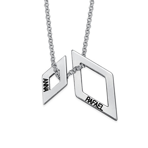 Personalized Geometric Necklace - 1