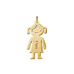 Personalized Girl Charm - Gold Plated