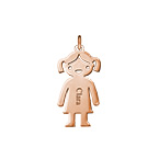 Personalized Girl Charm - Rose Gold Plated