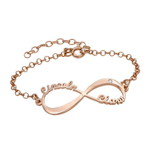 Personalized Infinity Bracelet In Rose